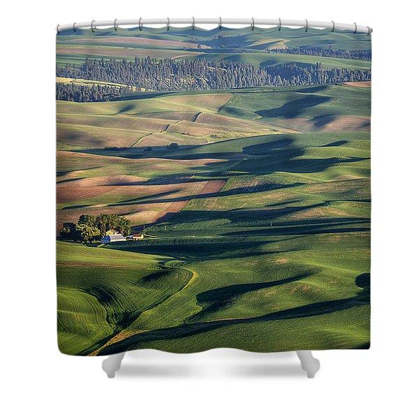 Palouse - Washington - Farms - 2 Shower Curtain