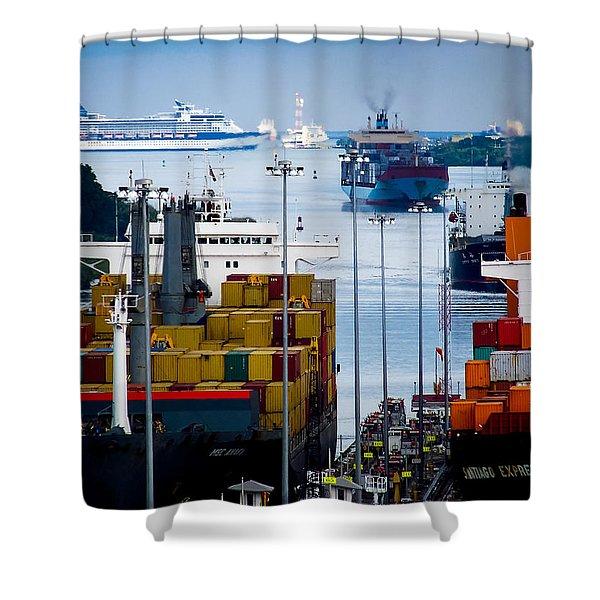 Panama Canal Express Shower Curtain