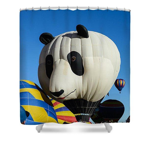 Panda Balloon Shower Curtain