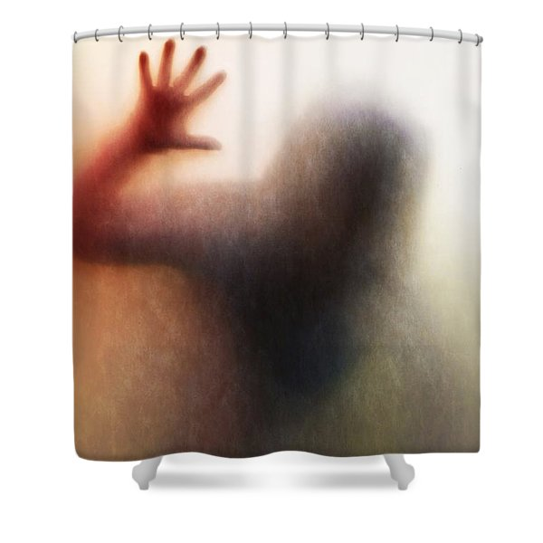 Panic Silhouette Shower Curtain