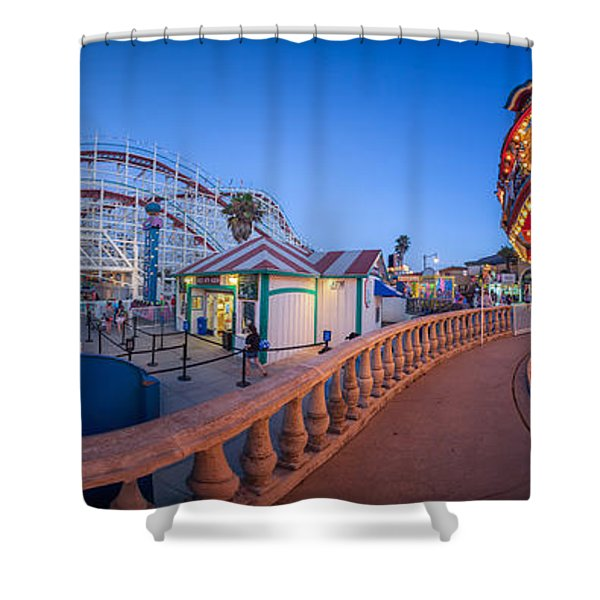 Panorama Giant Dipper Goes 360 Round And Round Shower Curtain