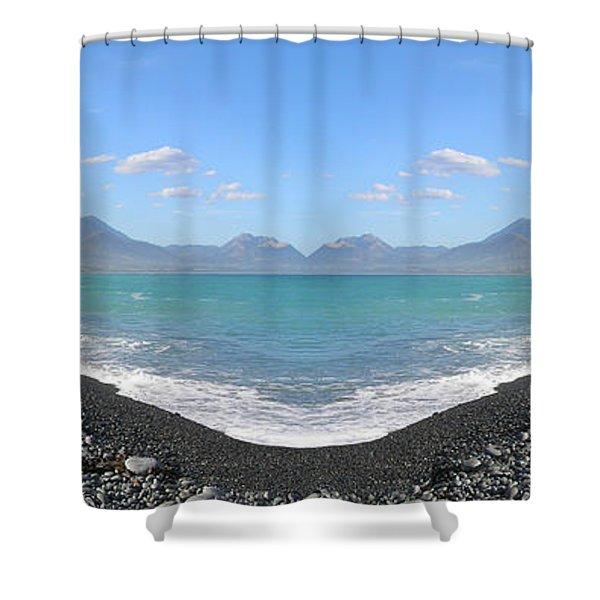 Panorama Lake Shower Curtain