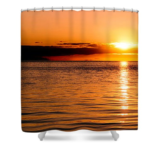 Panoramic Photo Of Sunrise At Monkey Mia Of Australia Shower Curtain