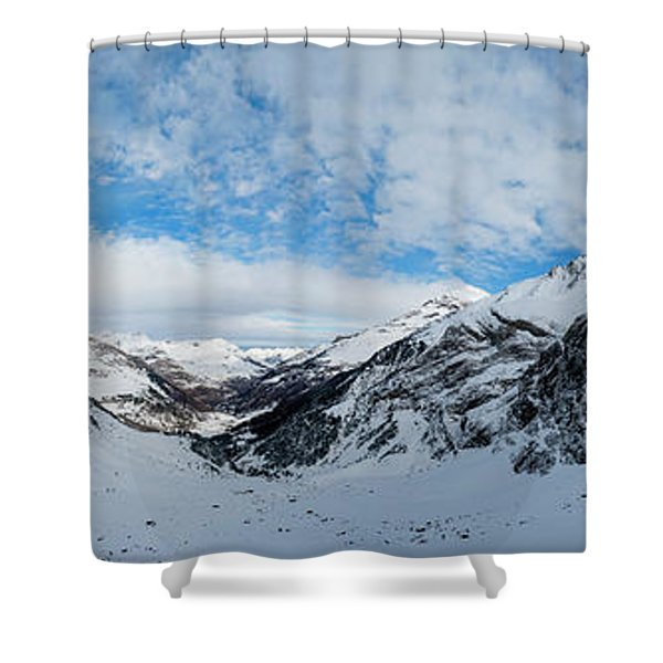 Panoramic View From The Top Shower Curtain