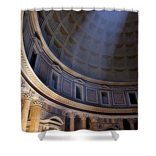 Shower Curtain featuring the photograph Pantheon Interior by Brian Jannsen