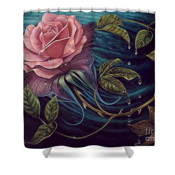 Papalotl Rosalis Shower Curtain