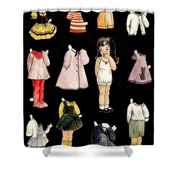 Paper Doll Amy Shower Curtain
