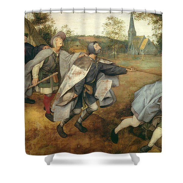 Parable Of The Blind, 1568 Tempera On Canvas Shower Curtain