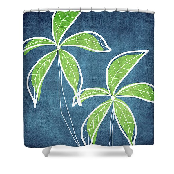 Paradise Palm Trees Shower Curtain