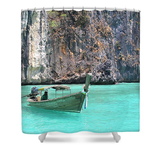 Paradise Water Holiday Shower Curtain
