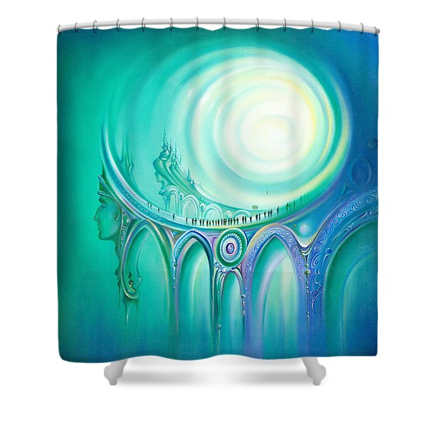 Parallel Ways Shower Curtain