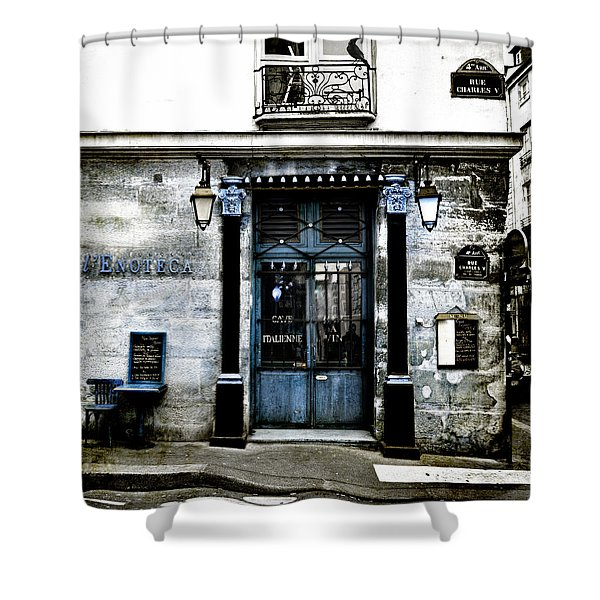 Paris Blues Shower Curtain