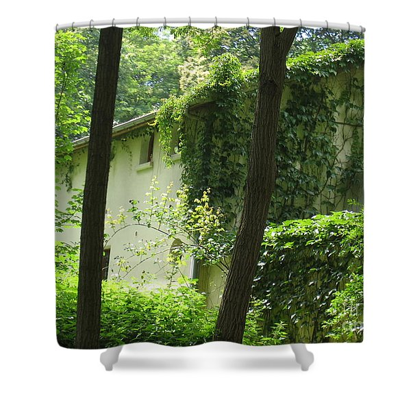 Paris - Green House Shower Curtain