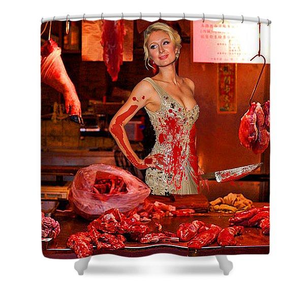 Paris Hilton The Butcher Shower Curtain