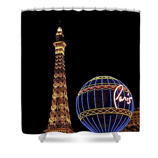 Paris In Vegas Shower Curtain