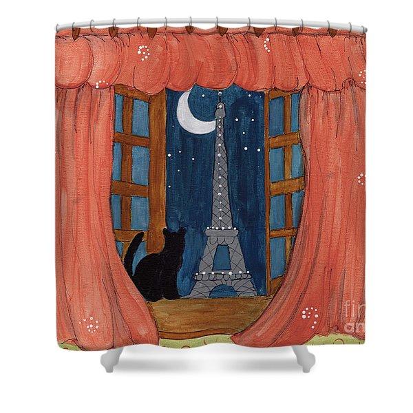 Paris Moonlight Shower Curtain