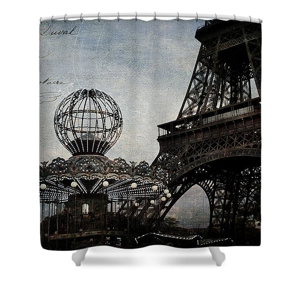 Paris One More Ride Shower Curtain