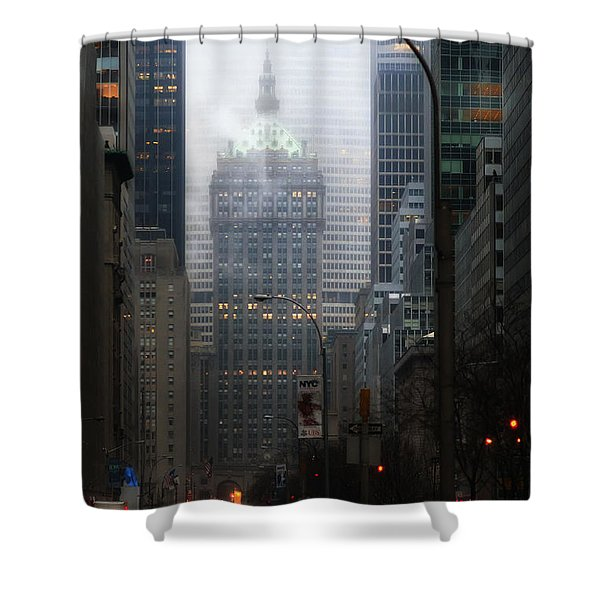 Park Avenue Dawn In Color Shower Curtain