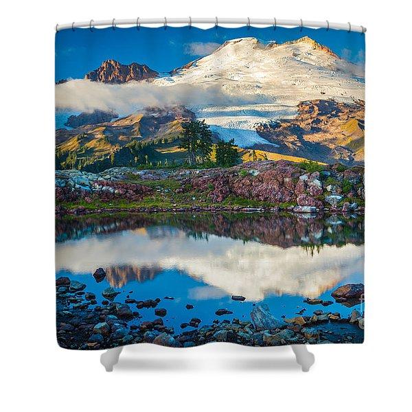Park Butte Tarn Shower Curtain