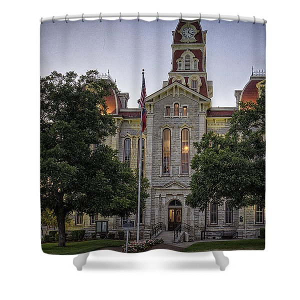 Parker County Courthouse Shower Curtain