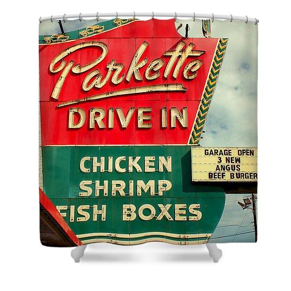 Parkette Drive-in Shower Curtain