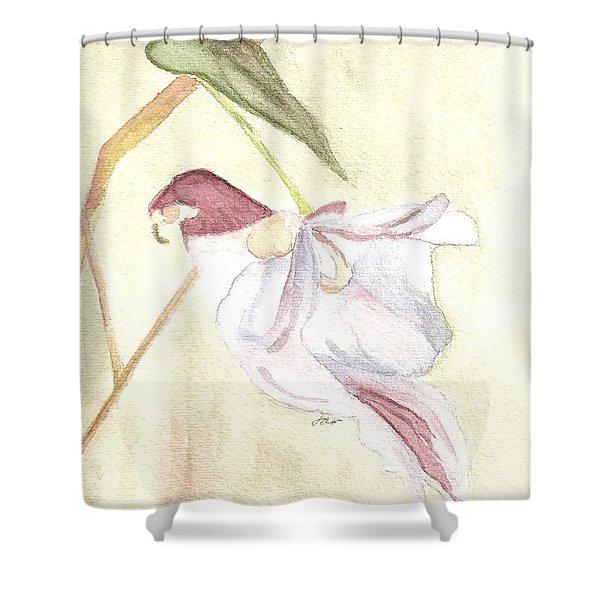 Parrot Flower 1 Shower Curtain