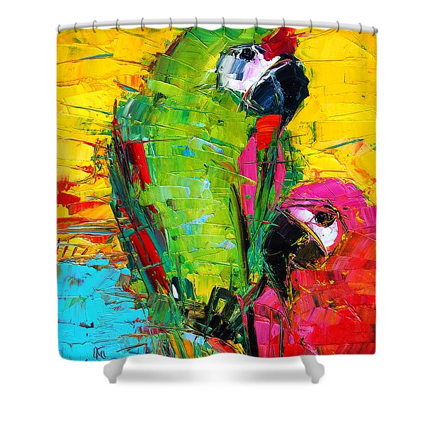 Parrot Lovers Shower Curtain