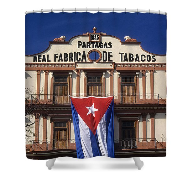 Partagas Cigar Factory Shower Curtain