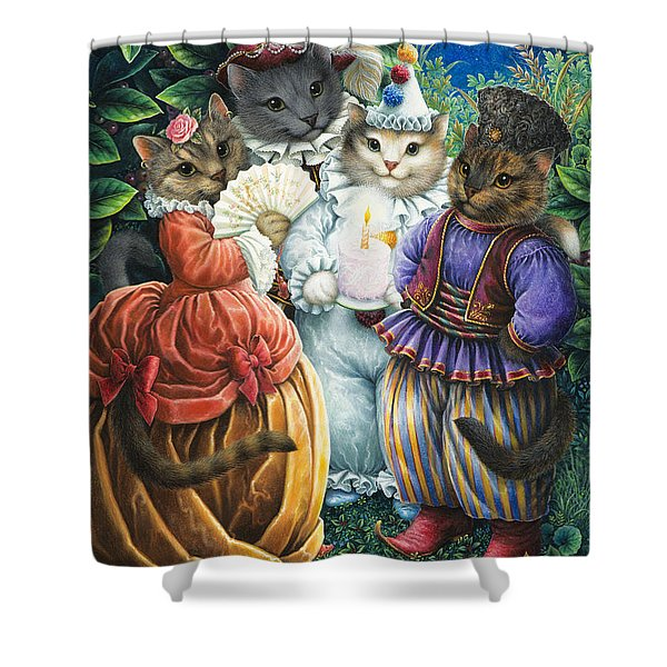 Party Cats Shower Curtain