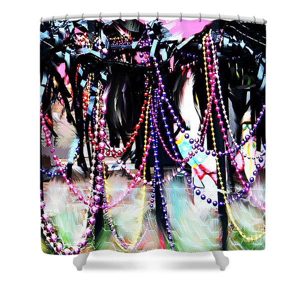 Party Gate Spanish Town Shower Curtain