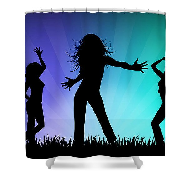 Party People Shower Curtain