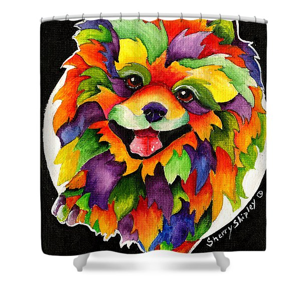 Party Pom Shower Curtain
