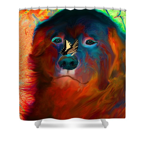 Party Pyrenees Shower Curtain