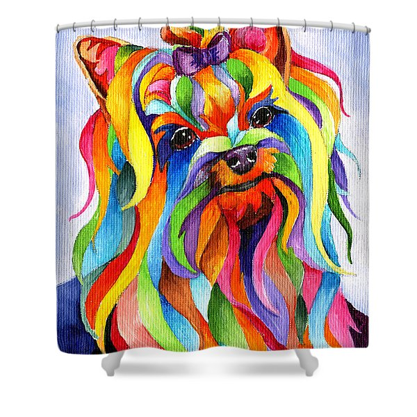 Party Yorky Shower Curtain