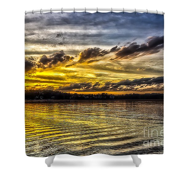 Passing Storm Two. Shower Curtain