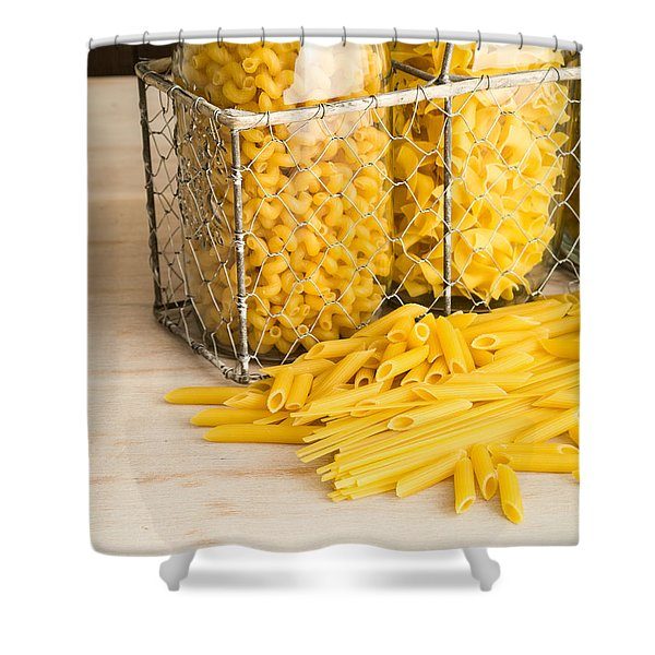 Pasta Shapes Still Life Shower Curtain