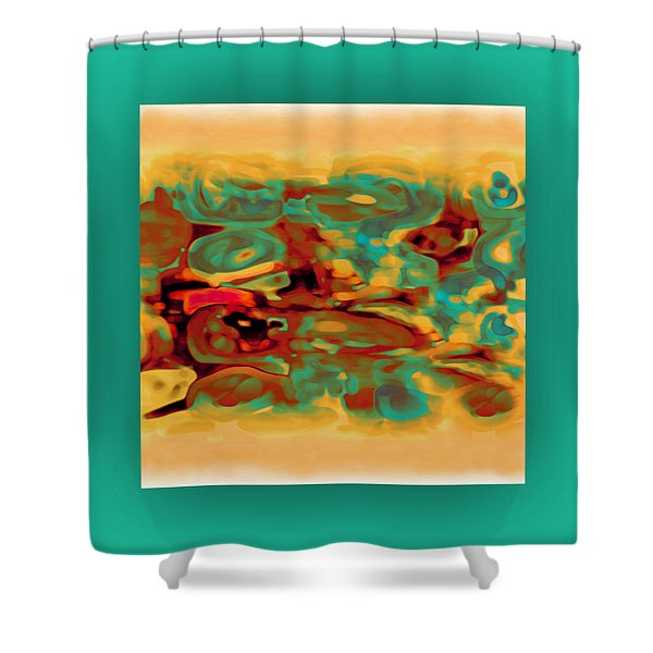 Shower Curtain featuring the digital art Pastel 5 by Mihaela Stancu
