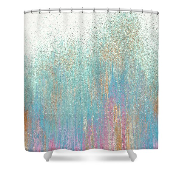Pastel Teal Woods Shower Curtain