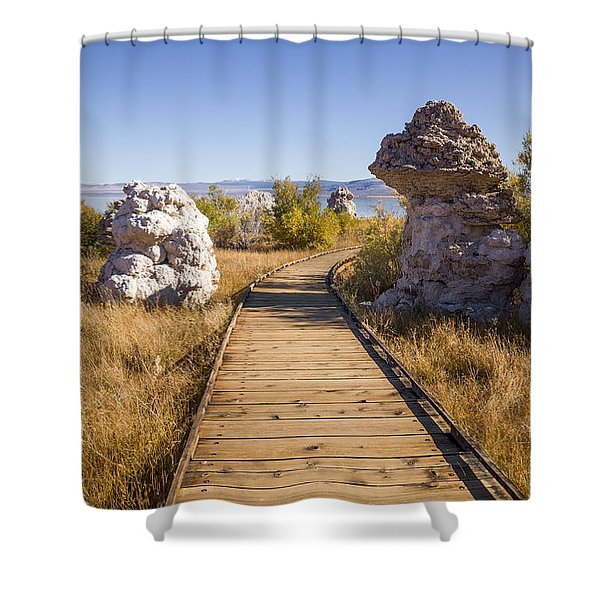 Path To Mono Lake Shower Curtain