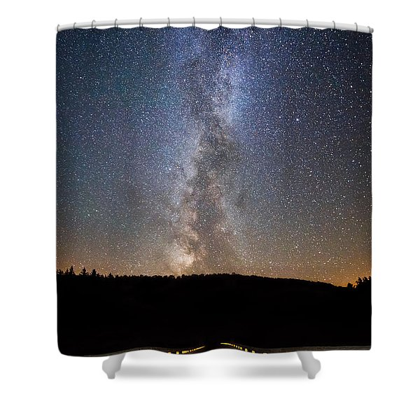 Path To Our Galaxy   Shower Curtain