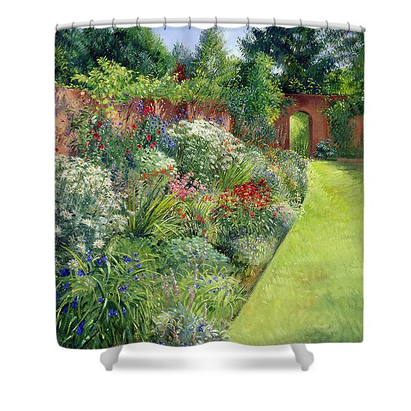 Path To The Secret Garden Oil On Canvas Shower Curtain