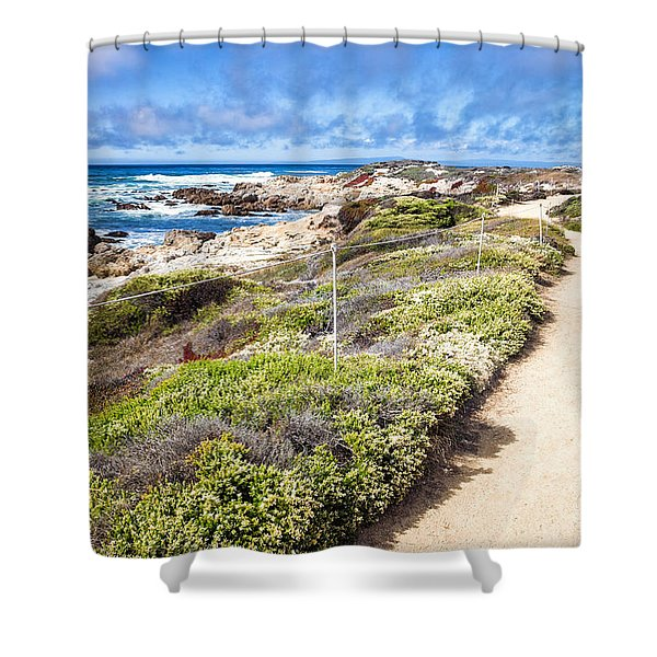 Pathway At Asilomar State Beach Shower Curtain
