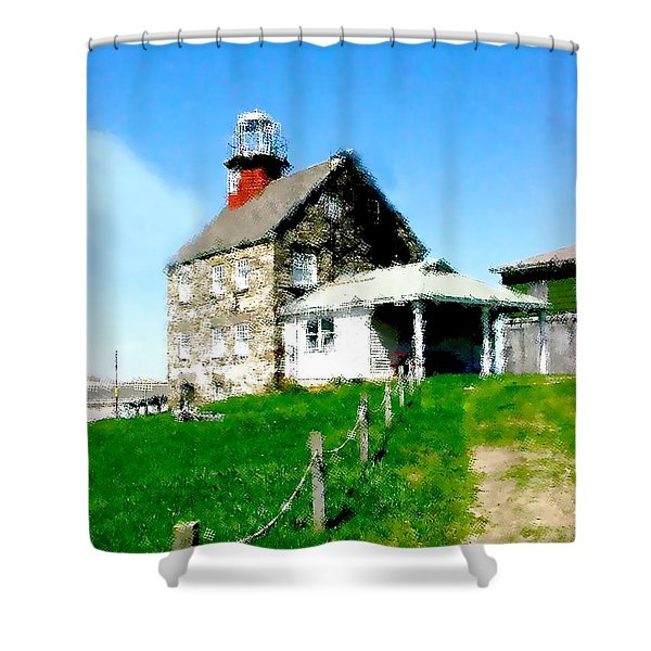 Pathway To Happiness  Shower Curtain