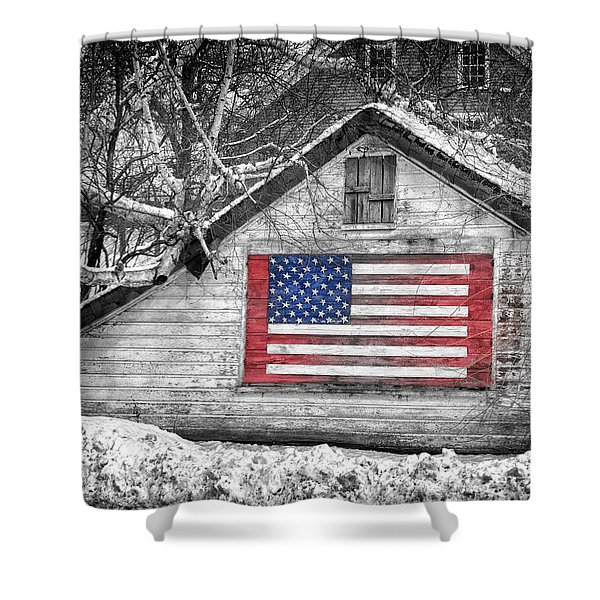 Patriotic American Shed Shower Curtain
