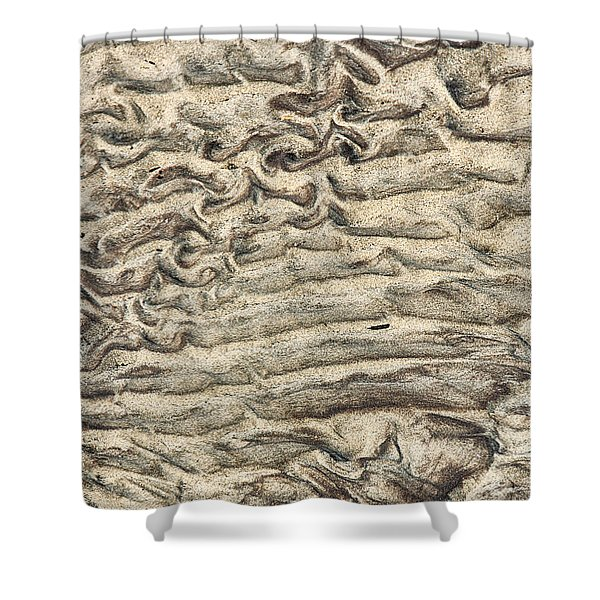 Shower Curtain featuring the photograph Patterns In Sand 3 by William Selander