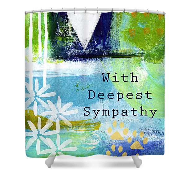 Paw Prints And Heart Sympathy Card Shower Curtain