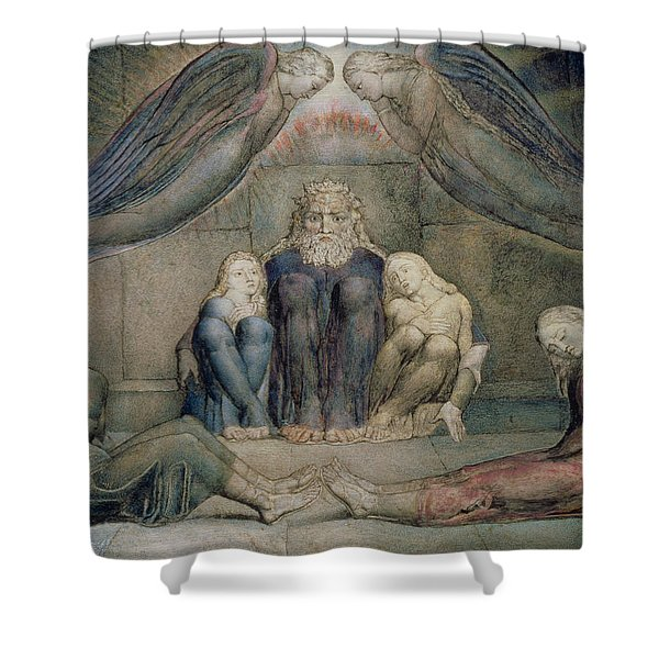 Pd.5-1978 Count Ugolino And His Sons Shower Curtain