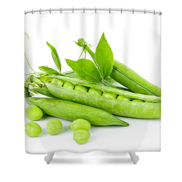Pea Pods And Green Peas Shower Curtain