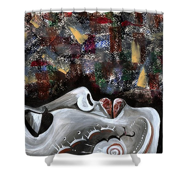 Peace Amidst Turmoil Shower Curtain