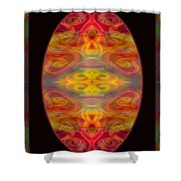 Peace And Harmony Abstract Healing Art Shower Curtain
